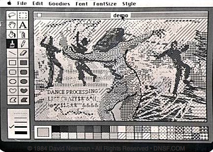 Dance Processing: MacPaint, January 1984
