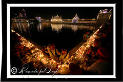 Golden Temple - Diwali Night (Raminder Pal Singh) Tags: lighting light reflection water pond candles religion belief sit devotion lamps sikhs tradition amritsar goldentemple raminder darbarsaheb harimandarsaheb raminderpalsingh bandichorhdiwas