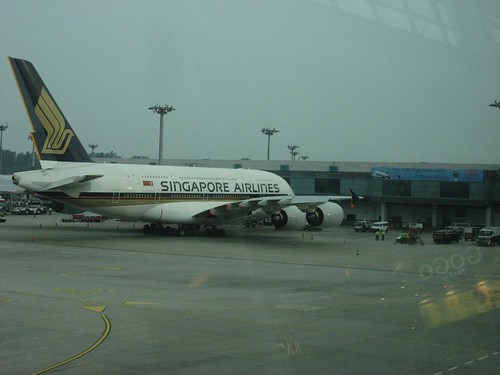A380 spotted in Changi