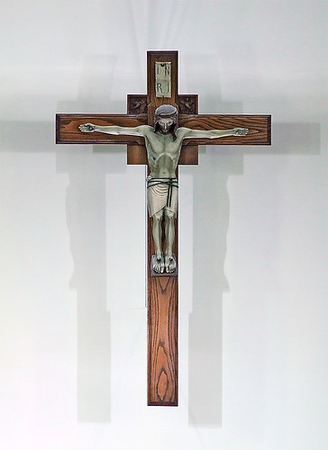 Saint Mary Magdalen Roman Catholic Church, in Saint Louis, Missouri, USA - crucifix.jpg