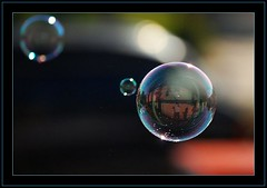 reflection within the bubble (Debasisphotography) Tags: reflection water closeup nikon outdoor refraction bubble debasis nikond80 nikonr18135mm