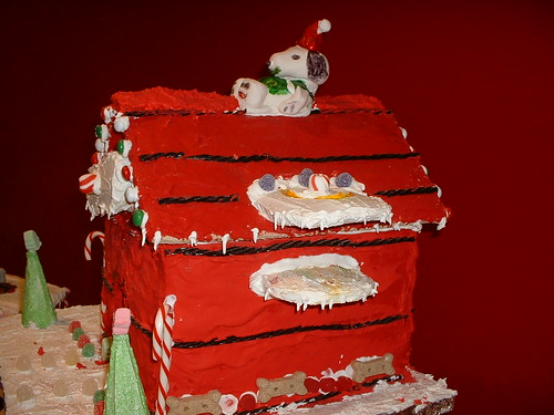 Snoopy Gingerbread House