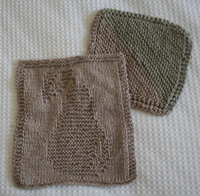 Farmhouse Kitchen Knitted Dishcloth: Twenty Cent Mixture: January 2008