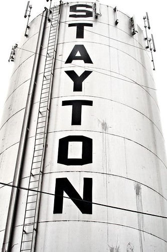 STAYTON - the water tower in Stayton Oregon