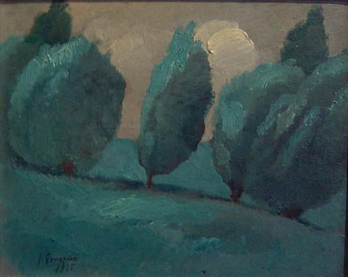 Julio Gonzalez, Les saules (1925).