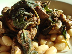 Chicken Liver With Sage And White Beans