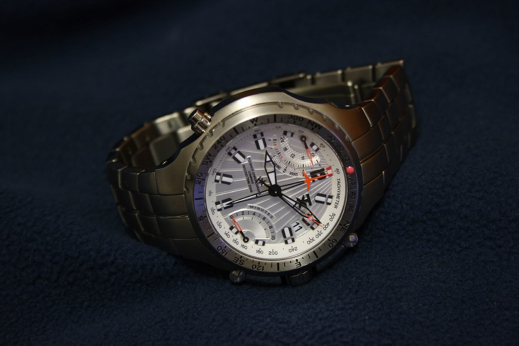 Titanium TX 770 Fly-Back Chronograph w/ Compass and 2nd Time Zone
