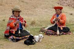 Two Busy Peruvian Women (picaddict) Tags: peru cuzco women cusco lambs spindel peruvian tambomachay worldwidelandscapes peruvianimages einheimischemitlämmchen wollespinnend celebratinghumanity