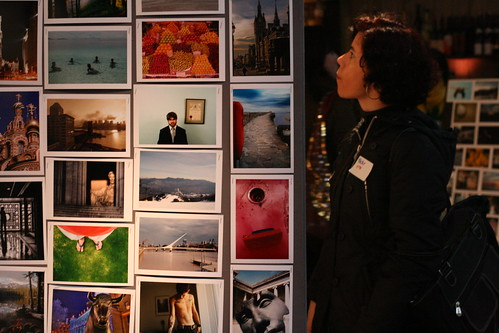 Some pictures on display at the Flickr party