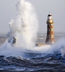 Roker lighthouse (jonboy24/7) Tags: sea lighthouse weather wind wave rough swell supershot anawesomeshot colorphotoaward excapture