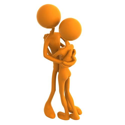 [フリー画像素材] グラフィック, CG, カップル, CG - 人物, 抱き合う ID:201110271400