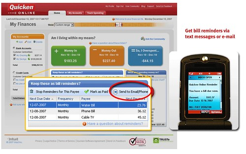 Quicken Online - Bill reminders and alerts by Quicken Online