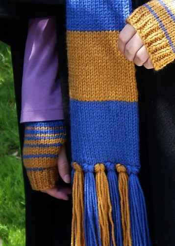 Ravenclaw Scarf and Wrist Warmers