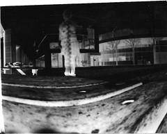 Pinhole 2 (Miss Holly Louise) Tags: blackandwhite bench missing arm pinhole negative