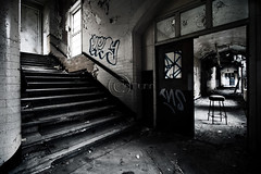 my way or yours? (NursePayne) Tags: uk urban abandoned hospital cherry decay elle dunn exploration derelict zone ue sunderland contamination knowle