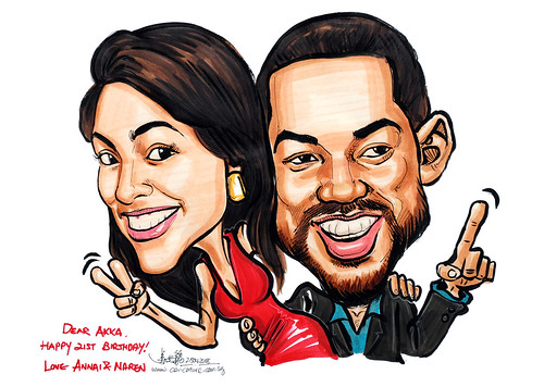 Caricatrue Will Smith and gal