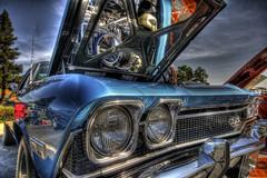 Hotrods46 (ZekaG) Tags: canon ss autoshow chevy hotrod sacramento hdr bluecar sunrisemall