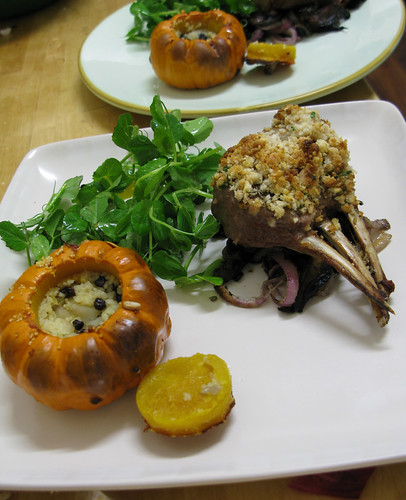 macadamia crusted lamb