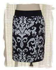 Black/White Scroll Skirt