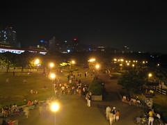 淡水捷運站外廣場俯拍