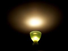 Lamp & Darkness (Thiru Murugan) Tags: light shadow macro reflection green lamp beautiful night shadows darkness win inspire educate conquer tablelamp motivate gude literate