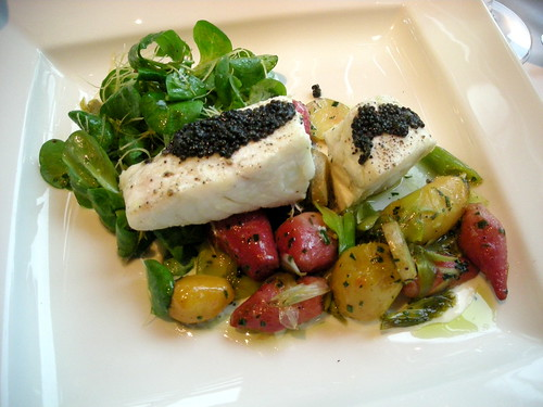 Halibut with caviar