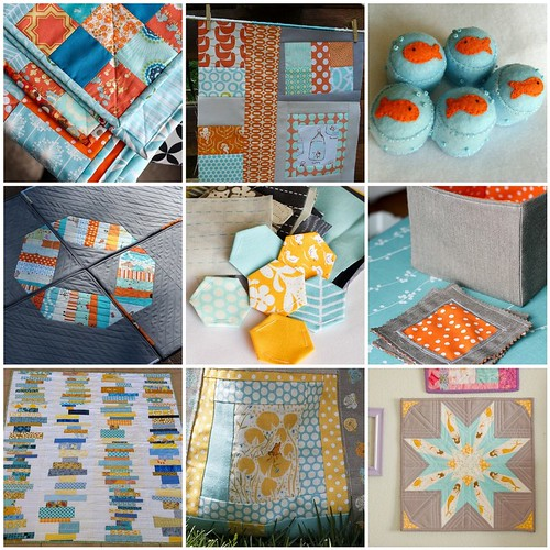 Tangerine and Aqua Flickr Projects