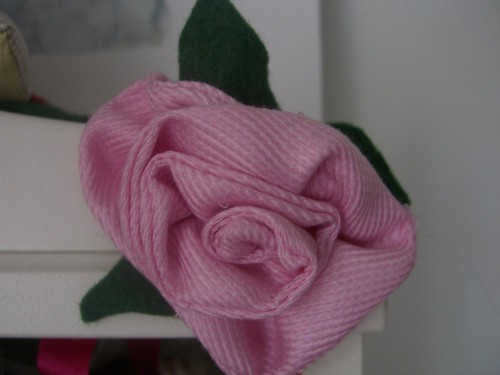 Fabric Rose by Aunt Angie.