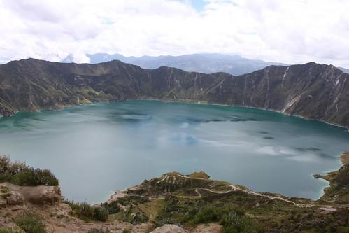 Quilotoa crater lake