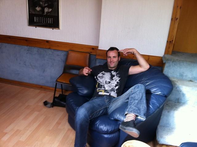 Steve relaxing