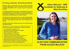SNP Scottish Election Leaflet, 2011 (Scottish Political Archive) Tags: party scotland election scottish msp national publicity campaign mcleod snp 2011