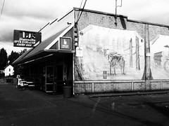 TJ's Superette (Star Rush) Tags: cameraphone seattle old blackandwhite bw oregon documentary cellphone pacificnorthwest 3gs mobilephotography iphoneography iphone3gs