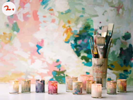 Painted candleholders