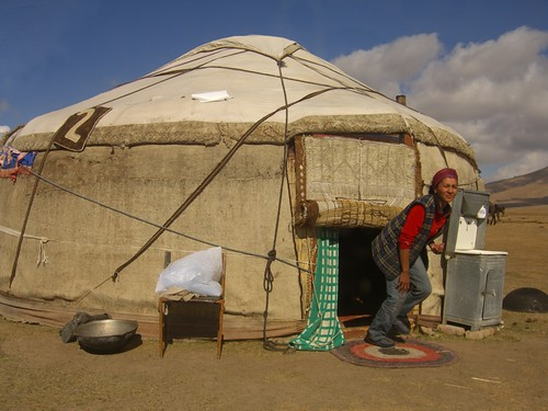 A Yurt as a Home - Song Kul Lake, Kyrgyzstan