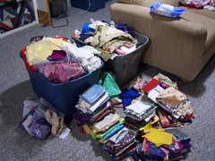 Fabric to be sorted/stashed
