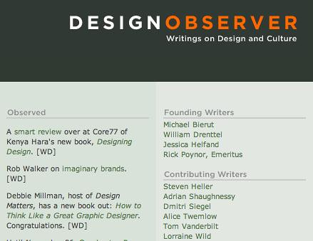 Thank you, Design Observer!