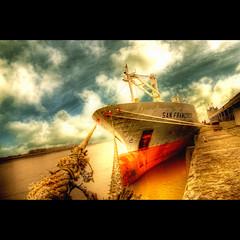 San Francisco (Dimitri Depaepe) Tags: sky water clouds port boat bravo ship antwerp hdr antwerpen themoulinrouge magicdonkey golddragon artlibre platinumphoto aplusphoto infinestyle goldenphotographer ostrellina