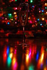 champagne christmas (Vlad's) Tags: christmas reflection tree glass lights wine champagne refraction hardwood
