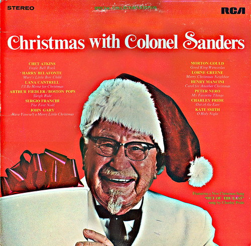 """Christmas With Colonel Sanders"" RCA Records ..sleeve front ((1969))"