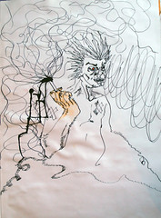(Nicols Usl) Tags: pencil ink drawing cigarette smoke cancer lapiz outline smoker dibujo fumar addiction humo illness cigarrillo fumador tintachina enfermedad contorno tabaquismo adiccion sicknes