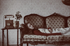 The Patient (Elif Sanem Karakoc) Tags: old grandma winter house home girl wall vintage paper polaroid soft pattern retro patient ill soul sick pure patern