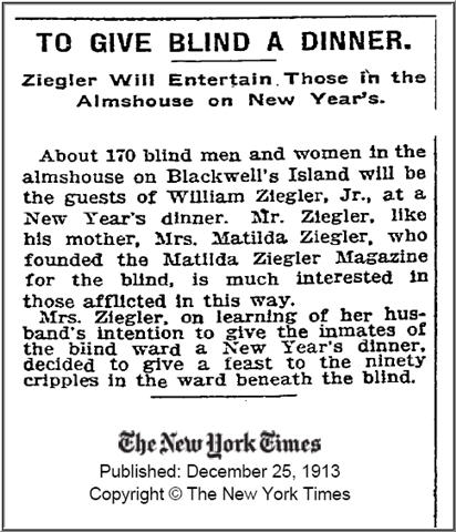 NYT - 1913 Dec 25 - New Years Dinner Blind