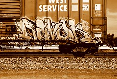 Revok (All Seeing) Tags: art graffiti trains tags artworkrebels awr msk revok graffitiart freights paintedtrains railart madsocietykings theseventhletter monikers am7 revokmsk lagraffiti losangelesgraffiti freightgraffiti boxcarart hobotags revokawr