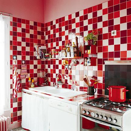 All Red Kitchen red kitchens.   door sixteen