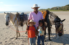 Kids Ride the beach. (Blackstallionhills.com) Tags: travel party horses costa black beach kids fun cool dad playa rica hills stallion guanacaste
