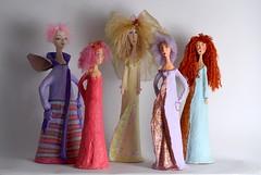 little ladies (tiva noff) Tags: paper  mache papermache