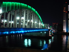 Kachidoki Bridge at night