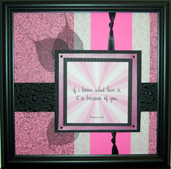 Valentine's Day framed keepsake