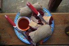 raw (ellybrown) Tags: raw sauce knife meat chilli ethiopia delicacy injera wollo dessie