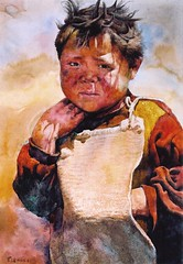 Tibet boy (zhoutianya) Tags: china art water watercolor painting paint artist aquarelle chinese tibet painter oil watercolour zhou transparent gouache paintingoil tianya zhoutianya
